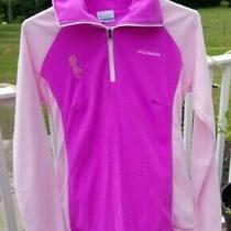 Columbia Womens S Pink Fleece 1/4 Zip Pullover Breast Cancer Awareness Top Photo