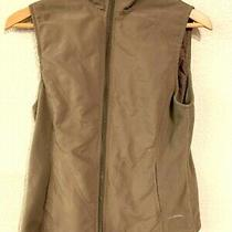 Columbia Womens Small Full Zip Fitted Fleece Vest Brown Photo
