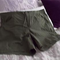 Columbia Womens Water Resistant Shorts/ L  Army Green/excellent Photo