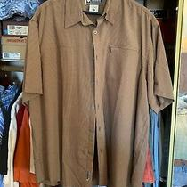 Columbia Xco Sportswear Men's (Xxl) Gold Check Short Sleeve Shirt Metal Btn Photo