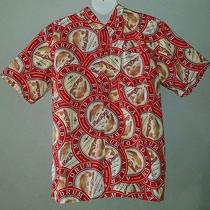 Columbia Xl America Red Drum Amber Ale Button Down Shirt Photo