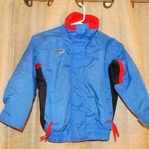 Columbia Youth Boys Small Radial Sleeve Bugaboo Spring Jacket Blue Black Red Euc Photo