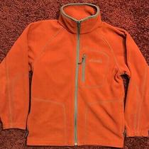 Columbia Youth Fleece Jacket Size 10/12 Orange Photo