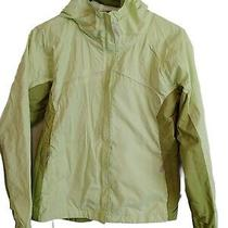 Columbia Youth Pale Green Jacket With Hood Front Zip Pockets Size 14/16 Photo