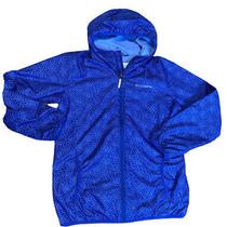 Columbia Youth Polyester Zip Up Hooded Jacket Size Large Periwinkle Blue Photo