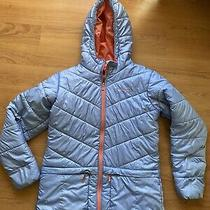 Columbua Girls Winter Jacket Size Xl Periwinkle Blue and Salmon Colors Photo
