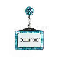 Combo Rhinestone Badge Reel and Horizontal Bling Id Card Holder Set  Photo