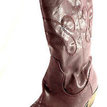 Comfortview Womens 7m Parker Mid Calf Boots Wine Nwd Photo
