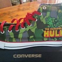 Comic Book Custom Converse Hulk Camo Green Mens 12 New Sneakers Photo