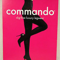 Commando Dig-Free Luxury Legwear Ultimate Opaque Matte Tights Olive Sz L Large Photo