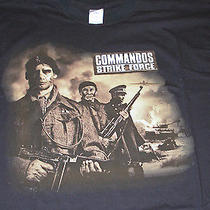 Commandos Strike Force Video Game T-Shirt Silkscreened Limited Promo New Photo