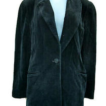 Compagnie Internationale Express Black Velvet Womens Blazer Jacket Lined Sz 5/6 Photo