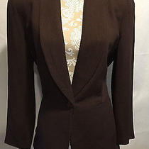 Compagnie Internationale Express Career Work Dress Brown Lined Jacket Size 9/10 Photo