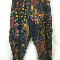 Compagnie Internationale Express Harem Pants Sz Xs Vtg Tapered Multi Colored  Photo
