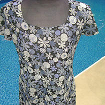 Compagnie Internationale Express Womens Blue & White Flowered Dress Size Small Photo