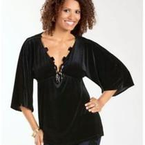 Company B Women's Tunic With Necklace Black - 2xl - New Photo