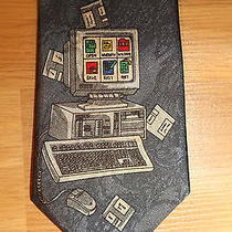 Computer Geek Necktie Made by City One 100% Polyester Hand Made Photo