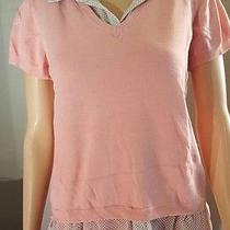 Concepts New York Women's Faux Shirt Sweater Blush Chiffon Career Casual M Size Photo
