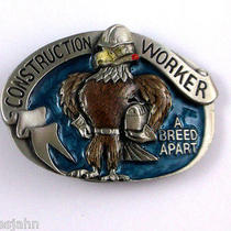 Construction Worker Breed Apart 1988 Great American Vintage Belt Buckle L52 Photo