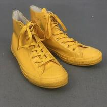 Converse 144747c Yellow Mustard Rubber 8 Eyelet Hi Top Sneakers M 10.5 W 12.5 Photo