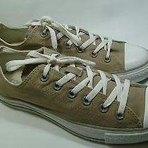 Converse All Star Beige Double-Tongued Womens Sneakers Size 10 Euc Photo