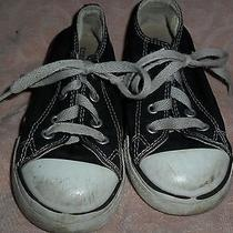 Converse All Star Black Boys Low Tops Size 9 Photo