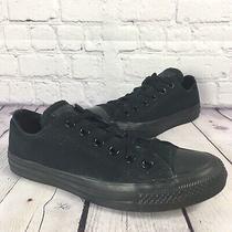 Converse All Star Black on Black Low Top Sneakers Shoe Size Men 5 Women 7 Chucks Photo
