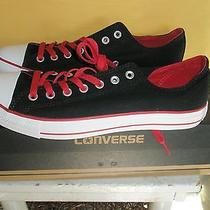 Converse All Star Black Red & White Low-Top Sneakers   Mens Size 10  Nib Photo