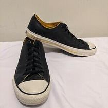 Converse All Star Black Yellow Leather Low Top  Sneakers Men's 8.5 Women's 10.5 Photo