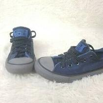 Converse All Star Blue Size 12 Junior Sneakers Blue Photo