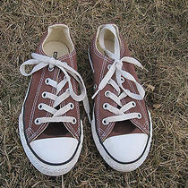 Converse All Star Brown Canvas Tennis Shoes Youth Size 13 Sneakers Great Item Photo