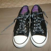 Converse All Star Canvas Black Glitter Womens Sneakers Size 8 Photo