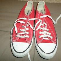 Converse All Star Canvas Red Womens Sneakers Size 8.5 8 1/2  Photo