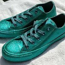 Converse All Star Chuck Taylor Brittany Blue Monochrome Glitter Sneakers Size 6 Photo