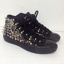 Converse All Star Chuck Taylor Custom Made Black Spiked Studs Sneakers  Womens 8 Photo