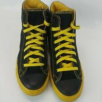 Converse All Star Chuck Taylor High Tops Yellow Black Rare Colorway Mens 7 Photo