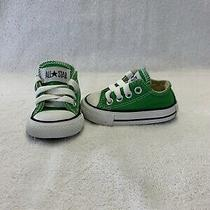 Converse All Star Chuck Taylor Infant Baby Boys Green Shoessize 2 C Photo