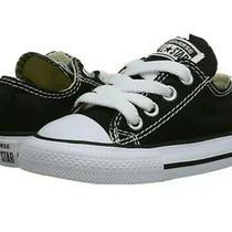 Converse All Star Chuck Taylor Low Black & White Sneakers Infant Size 2 Shoes Photo