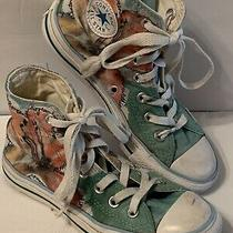 Converse All Star   Floral High Tops Shoes Womens Size 5 Sku  505747f Teal Photo