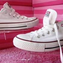 Converse All Star for Victorias Secret White Low Top Sneakers 9us Photo