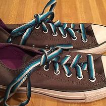 Converse All Star Gray Canvas Low Tops Shoes Women's 7 New W/no Box Charcoal Photo