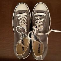 Converse All Star Gray Canvas Sneakers Mens Size 8 Womens Size 10 New No Box Photo