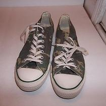 Converse All Star Green Camo Low Tops Us Men's Size 10 Us Women's Size 12 Photo