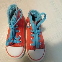 Converse All Star High Top Sneakers Thing One and Thing Two Orange Youth 10 Shoe Photo