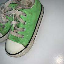 Converse All Star Lime Green Sneakers Shoes Youth Girl's/ Boy's Size 1 Photo