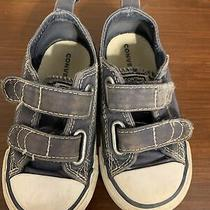 Converse All-Star Low Chuck Taylor Baby Kids Boys Infant Shoes Size 6 Blue W/box Photo