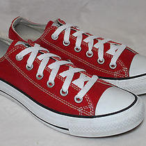 Converse All Star Low Top Canvas Red Basketball Size 5.5  Womens- Euc Photo
