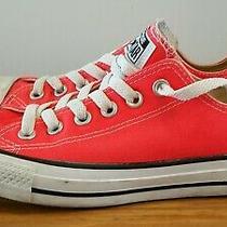 Converse All Star Low Top Canvas Sneakers Kids Size 5 Eu 37.5 Women's 7.5 Neon Photo