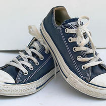 Converse All Star Low Top Kids Size 1 Navy Blue Euc Photo