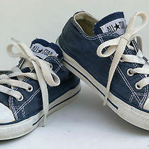 Converse All Star Low Top Kids Size 9 Navy Blue Euc Photo